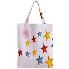 Star Rainbow Zipper Classic Tote Bag