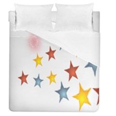 Star Rainbow Duvet Cover (queen Size)