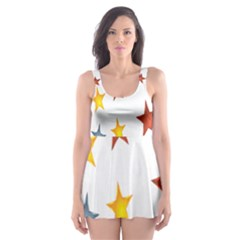 Star Rainbow Skater Dress Swimsuit