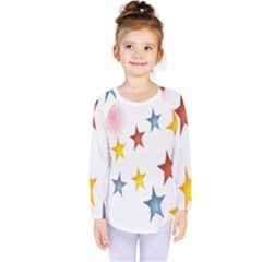 Star Rainbow Kids  Long Sleeve Tee