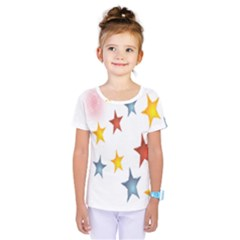 Star Rainbow Kids  One Piece Tee