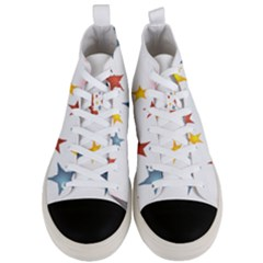 Star Rainbow Men s Mid Top Canvas Sneakers