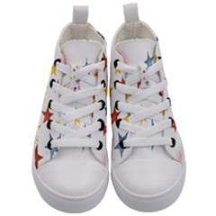 Star Rainbow Kids  Mid Top Canvas Sneakers