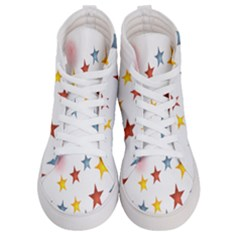 Star Rainbow Women s Hi Top Skate Sneakers
