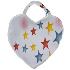 Star Rainbow Giant Heart Shaped Tote