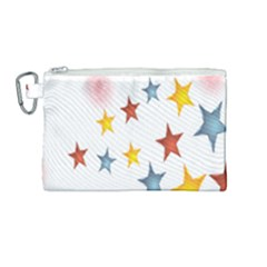 Star Rainbow Canvas Cosmetic Bag (medium)