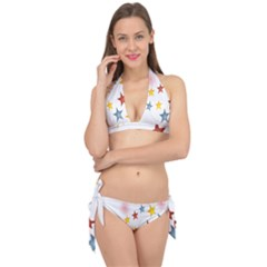 Star Rainbow Tie It Up Bikini Set