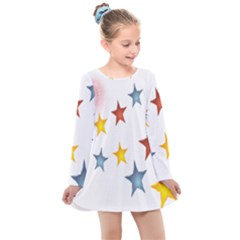 Star Rainbow Kids  Long Sleeve Dress