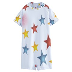 Star Rainbow Kids  Boyleg Half Suit Swimwear