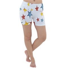 Star Rainbow Lightweight Velour Yoga Shorts by Alisyart