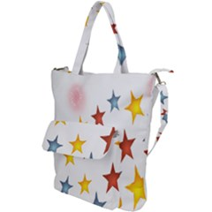 Star Rainbow Shoulder Tote Bag