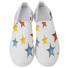 Star Rainbow Men s Slip On Sneakers