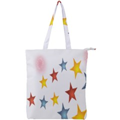 Star Rainbow Double Zip Up Tote Bag