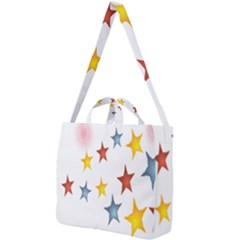 Star Rainbow Square Shoulder Tote Bag