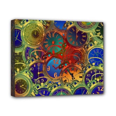 Time Clock Distortion Canvas 10  X 8  (stretched)