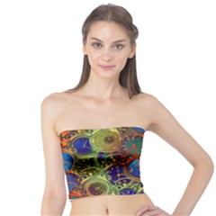 Time Clock Distortion Tube Top by Mariart