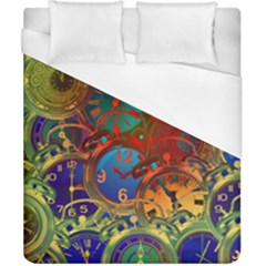 Time Clock Distortion Duvet Cover (california King Size)