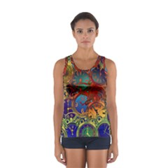 Time Clock Distortion Sport Tank Top