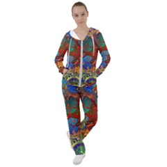 Time Clock Distortion Women s Tracksuit by Mariart