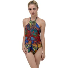 Time Clock Distortion Go With The Flow One Piece Swimsuit by Mariart