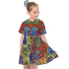Time Clock Distortion Kids  Sailor Dress
