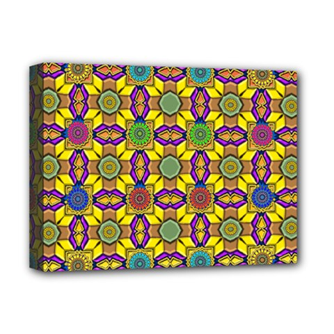 Tile Background Geometric Deluxe Canvas 16  X 12  (stretched)