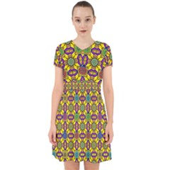 Tile Background Geometric Adorable In Chiffon Dress