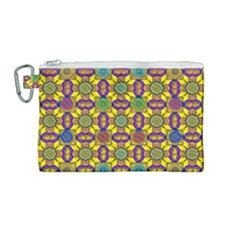 Tile Background Geometric Canvas Cosmetic Bag (medium)