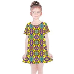 Tile Background Geometric Kids  Simple Cotton Dress