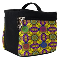 Tile Background Geometric Make Up Travel Bag (small)