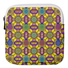 Tile Background Geometric Mini Square Pouch