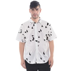 My Flock   Black & White Men s Short Sleeve Shirt
