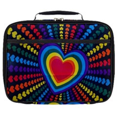 Rainbow Pop Heart Full Print Lunch Bag by WensdaiAmbrose