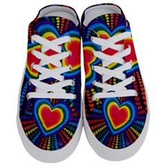 Rainbow Pop Heart Half Slippers by WensdaiAmbrose
