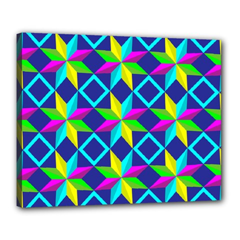 Pattern Star Abstract Background Canvas 20  X 16  (stretched)
