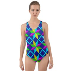 Pattern Star Abstract Background Cut Out Back One Piece Swimsuit