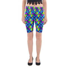 Pattern Star Abstract Background Yoga Cropped Leggings
