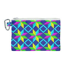 Pattern Star Abstract Background Canvas Cosmetic Bag (medium)