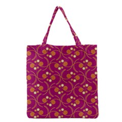 Pattern Wallpaper Seamless Abstract Grocery Tote Bag