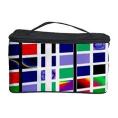 Color Graffiti Pattern Geometric Cosmetic Storage by Pakrebo