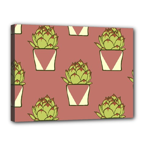 Cactus Pattern Background Texture Canvas 16  X 12  (stretched)