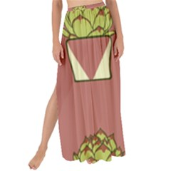 Cactus Pattern Background Texture Maxi Chiffon Tie Up Sarong