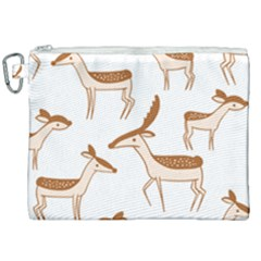 Seamless Deer Pattern Design Canvas Cosmetic Bag (xxl)