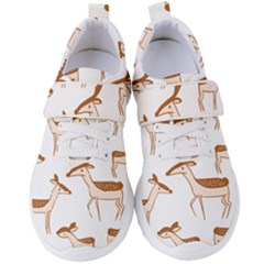 Seamless Deer Pattern Design Women s Velcro Strap Shoes by Pakrebo