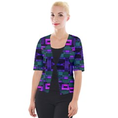 Abstract Pattern Desktop Wallpaper Cropped Button Cardigan