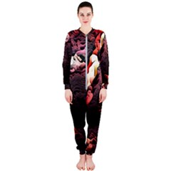 Texture Art Design Pattern Onepiece Jumpsuit (ladies)