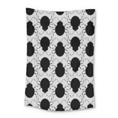 Pattern Beetle Insect Black Grey Small Tapestry