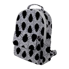 Pattern Beetle Insect Black Grey Flap Pocket Backpack (large)