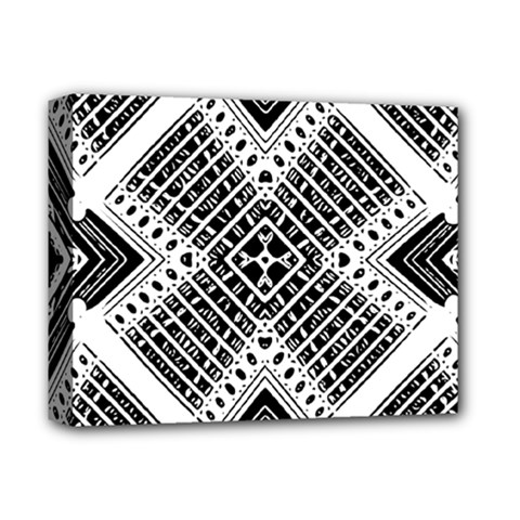 Pattern Tile Repeating Geometric Deluxe Canvas 14  X 11  (stretched)
