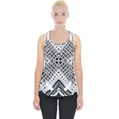 Pattern Tile Repeating Geometric Piece Up Tank Top